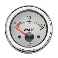 Gauge water level WATER12WL white<br/>12V cut-out Dia. 52 mm excluding<br/>sensor