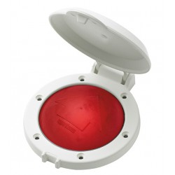 Switch foot FSWR 12/24V Red with<br/>white bezel & water proof cover<br/>