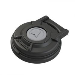 Foot Switch compact Black 12/24V 5A<br/>with cover Dia. 65 x 22H mm must be<br/>used with solenoid