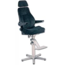 "Seat ""Helmsman"" Black fabric<br/>upholstery adjustable armrest,<br/>backrest & lumbar support"