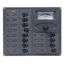 Panel 903-AM 12V 20 breaker<br/>Horizontal mount with analog meter<br/>