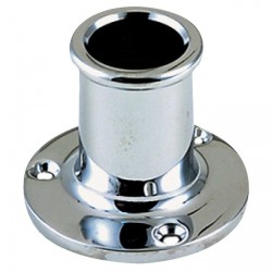 Flag pole socket 20 mm straight<br/>SS316<br/>