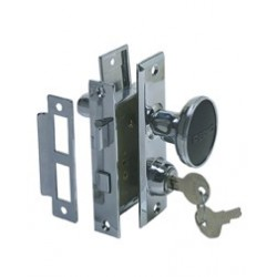 "Mortise lock set (0927)<br/>""2-3/4"" x 2"" chromed zinc alloy<br/>"