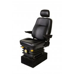 """<span class=""""tooltip"""">Seat Helmsman SSH Black Vinyl<br/>upholstery with adjustable suspension<br/>Standard specifications:... <span class=""""tooltiptext""""> Seat Helmsman SSH Black Vinyl upholstery with adjustable suspension Standard specifications: - Fore and aft 160 mm slide travel - 60mm height and inclination adjustment   from 240-300mm - Suspension adjustable from 50 to 130kg - Reclining backrest - Vinyl black fabric - Adjust </span> </span>"""