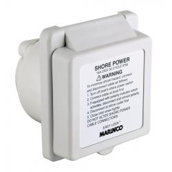 Shore power inlet 301EL-BX 16A 230V<br/>GRP body with Easy lock system<br/>& rear safety enclosure
