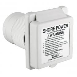 """<span class=""""tooltip"""">Shore power inlet 6351EL-BX 32A<br/>230V GRP body with Easy lock system<br/>& rear safety enclosure with strain... <span class=""""tooltiptext""""> Shore power inlet 6351EL-BX 32A 230V GRP body with Easy lock system & rear safety enclosure with strain relief </span> </span>"""