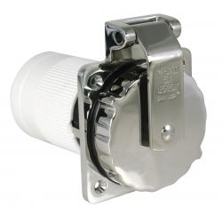 Shore power inlet 6373EL-B 50A 125/<br/>250V 4 wire with SS body & rear<br/>safety enclosure