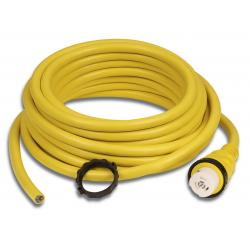 Shore power 50 ft 32A 250V (Y) male<br/>end blunt cut 8/3 cable cordset<br/>Yellow colour
