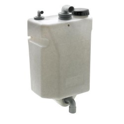 Tank waste water 25L horizontal<br/>wall mount plastic excluding inlet<br/>fitting