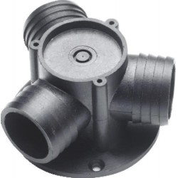 Valve ball (plastic) VALVE38<br/>Dia. 38 mm 3 way hose connection<br/>