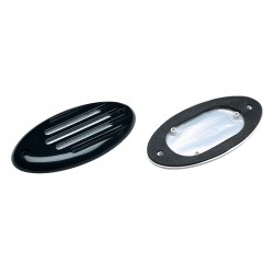 Horn grill for 01.09.0102 Black<br/>screw-in type ABS plastic with<br/>gasket