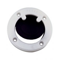 Scupper valve assembly for surface<br/>mount applications with black<br/>flapper