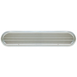 Vent air suction ASV025 louvred<br/>oval anodized Aluminium frame &<br/>grill
