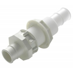 Bulkhead connector BULKH16 Dia.<br/>16mm hose & 28mm bulkhead thickness<br/>delrin