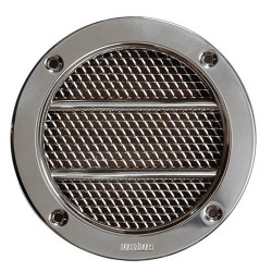 Vent suction ERV110A round SS316<br/>grille with rotating plastic<br/>connector cut-out Dia. 110 mm