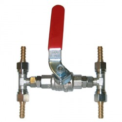 Valve bypass for Dia. 6 mm flexible<br/>hydraulic hose<br/>