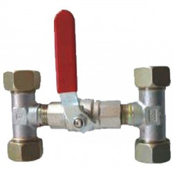 Valve bypass for Dia. 10 mm<br/>inflexible hydraulic hose<br/>
