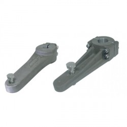 Tiller arm LS105P + nut & bolt<br/>(Dia. 28 mm pilot bore Dia.50 mm<br/>max) Aluminium