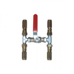 Valve bypass for Dia. 18 mm<br/>inflexible hydraulic hose<br/>