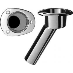 Rod cup holder SS316 oval top<br/>30 deg. No rod Drain<br/>