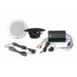 MP3 kit4W (Amplifier ME60 12V +<br/>2 x MA4055 White speakers + panel<br/>mount IC3.5 MP3 adaptor)