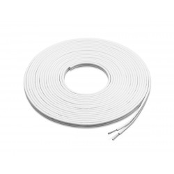 Cable-speaker 25ft White 16AWG<br/>(parallel) tinned copper<br/>