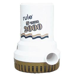 Pump bilge 2000 Gph 12V Gold<br/>series non automatic ruleseries<br/>with 5 years warranty