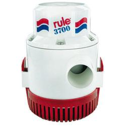 Pump bilge 3700 Gph 12V +<br/>6 ft wire non-automatic rule series<br/>