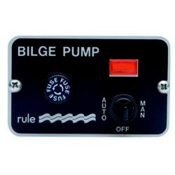 Switch panel 3way 12V for bilge