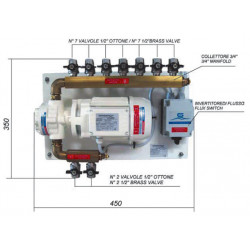 Pump group FQ15 230/400 V 3 Ph 50Hz<br/>0.37 kW + accesories<br/>