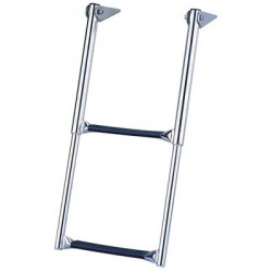Transom ladder Over platform telescoping drop