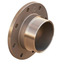 PN16 flange with male thread - bronze