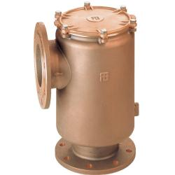 Angle flanged water strainer bronze - PN16 (Art 1283)